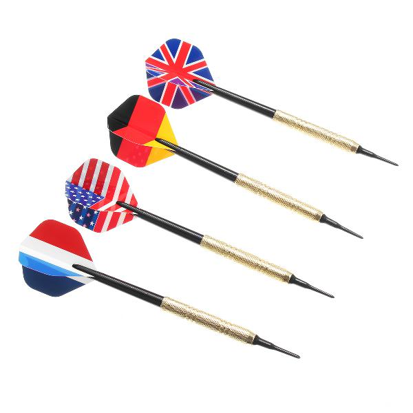 12Pcs Professional National Flag Tail Darts 4 Kinds With 100 0