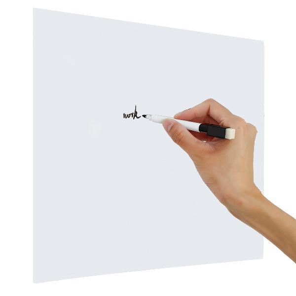 Magnetic Fridge Whiteboard Dry Wipe Pen Memo Pad Notice Meal 0