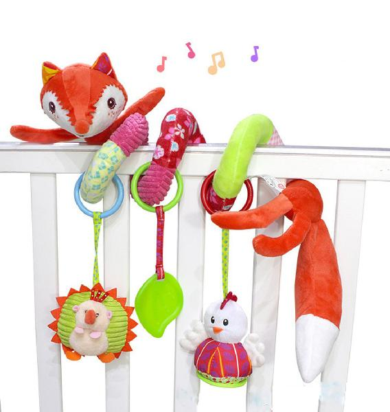 SKK Baby Fox Plush Spiral Activity Toy 0