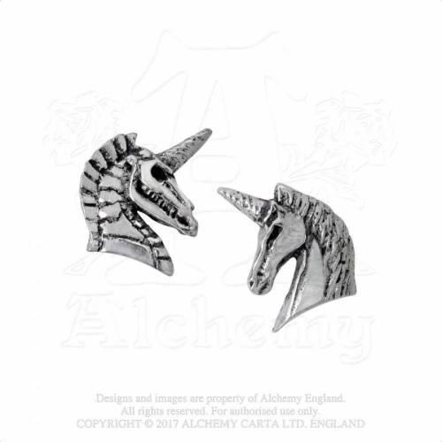 Alchemy Gothic E411 Unicorn Studs (pair) 0