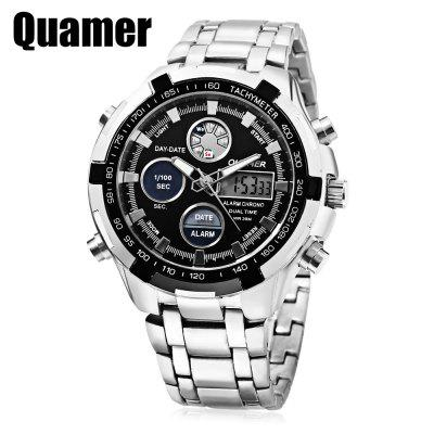 Quamer SD - 165 Dual Movt Men Watch 3ATM Day Date Display 0