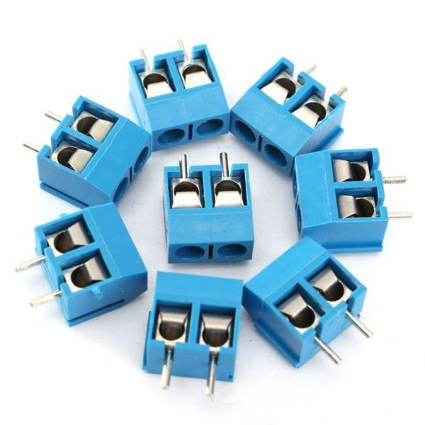 100pcs 2 Pin Plug-In Screw Terminal Block Connector 5.08mm 0