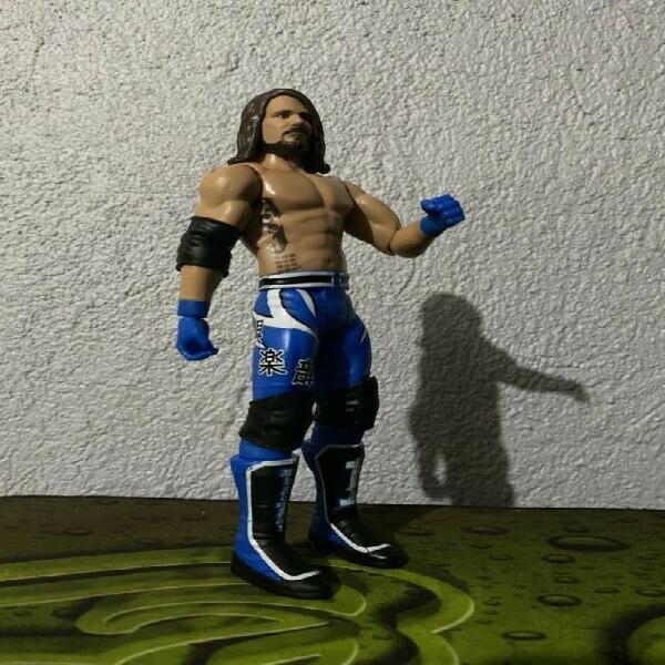 WWE Basic Mattel AJ Styles blue outfit Loose 0