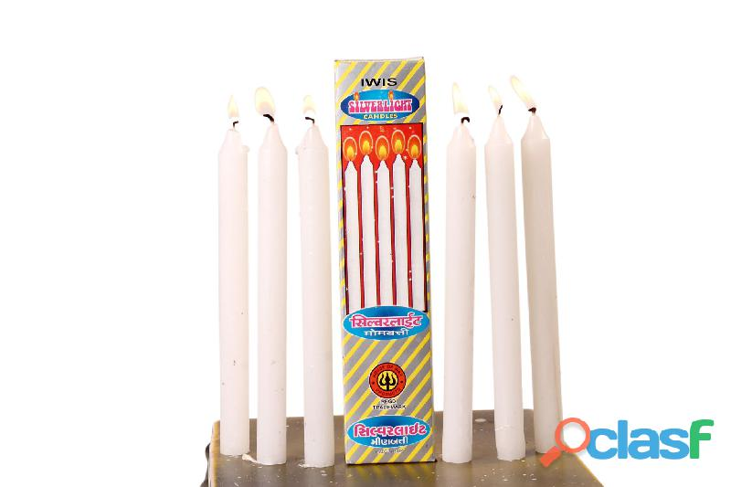 Spiral candles white candles manufacturer indian wax industries