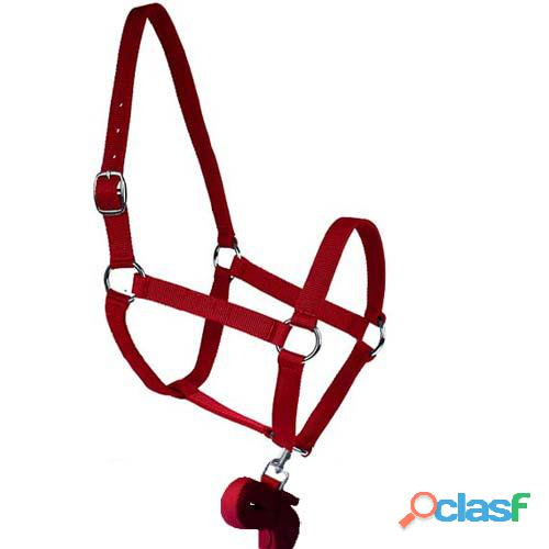 Soft horse halter and lead set