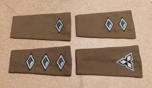 Set of swa territorial force rank epaulet's -- lieutenant 1