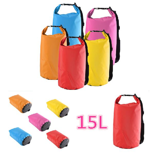 15l waterproof dry bag sack for camping hiking canoe kayak