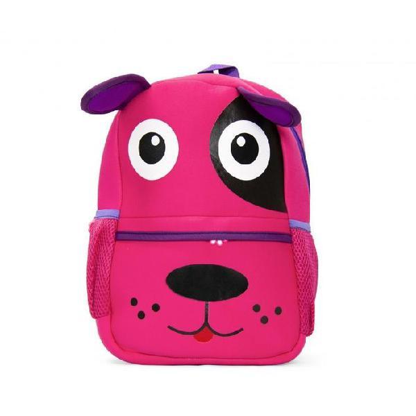 Kids neoprene backpacks - puppy / pink