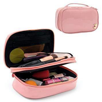 Makeup bag small travel cosmetic bag for women girls pencil