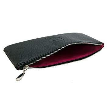 Makeup brush case cosmetic bag - black make up brush holder