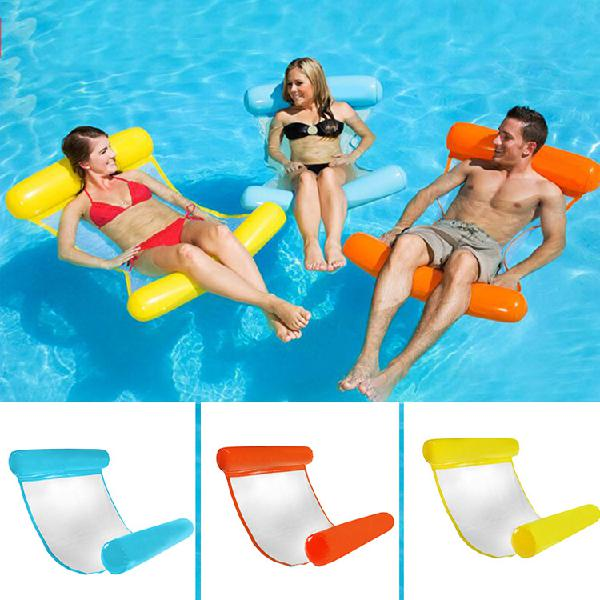 Portable foldable inflatable water floating chair seat bed