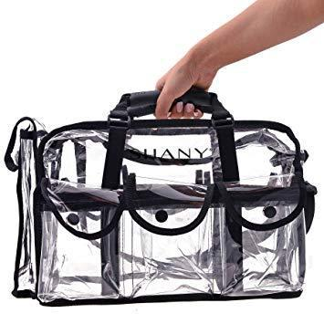 Shany cosmetics clear makeup bag, pro mua round bag with