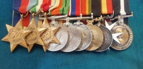 Very unusual ww2 set of medals including 1 solid 9ct gold