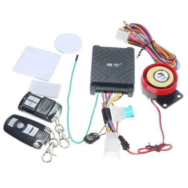 12v 125db motorcycle scooter security alarm system anti