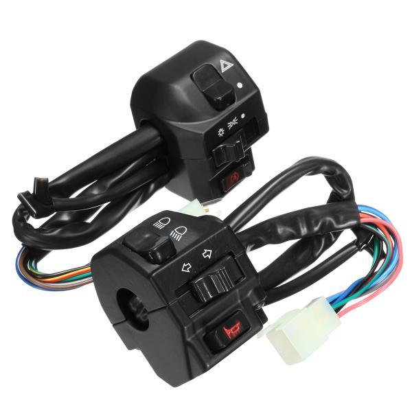 12v motorcycle 22mm handlebar headlamp switch horn turn