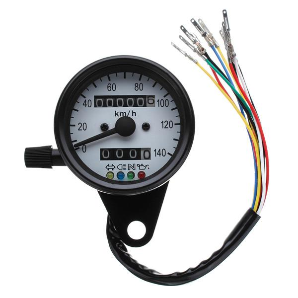 12v motorcycle dual odometer kmh speedometer gauge led