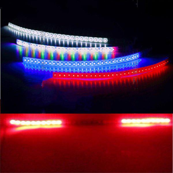 2pcs red scanning light led strip decoration flashing lamp