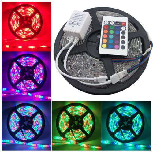 5m led strip light 5050 rgb colour waterproof