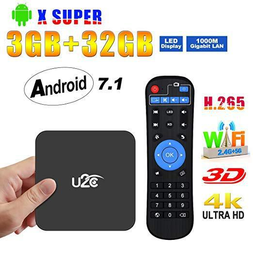 Android tv box 7.13gb ram+32gb rom 2018 amlogic s912 octa