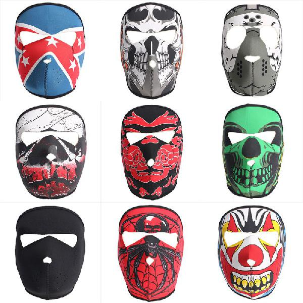 Full face mask motorcycle reversible biker skateboard scary