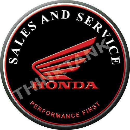 Honda - performance first - classic round metal sign