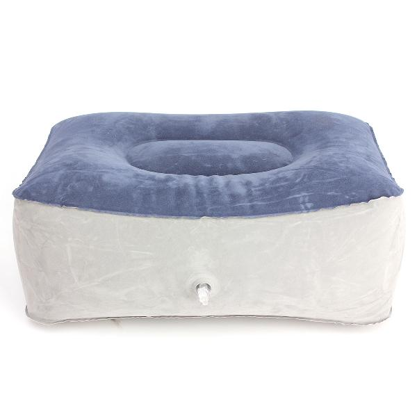 Inflatable footrest pillow travel home help reduce dvt risk