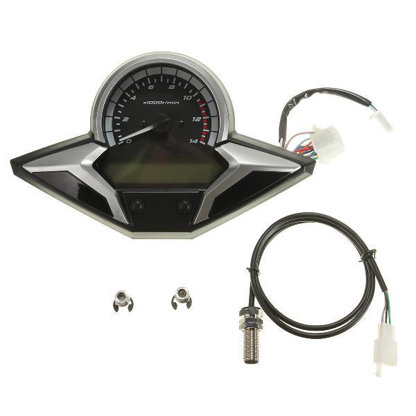 Motorcycle lcd digital speedometer odometer tachometer gauge