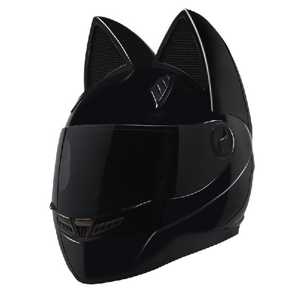 Nitrinos motorcycle full face helmet women cat ear women