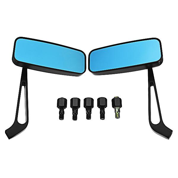 Pair 8mm/10mm motorcycle blue glass mirrors side rearview