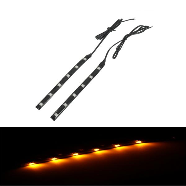 Pair motorcycle front fork led turn signal light strips