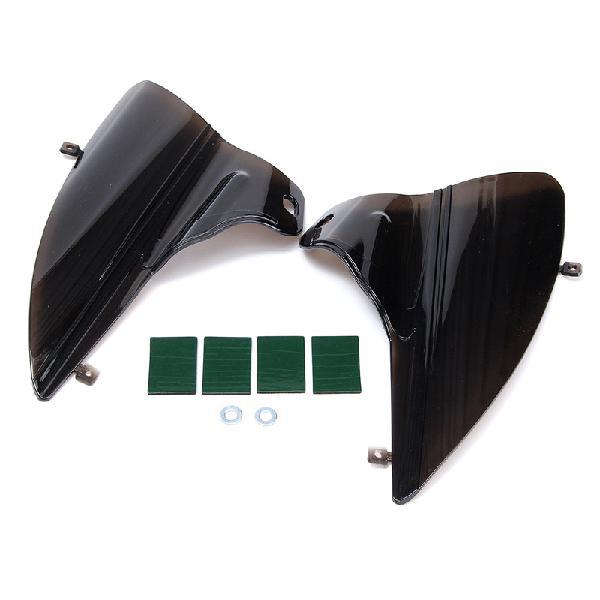 Smoke saddle shield air heat deflectors for harley touring