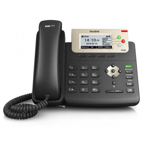 Yealink sip-t23g enterprise hd gigabit ip phone with poe -