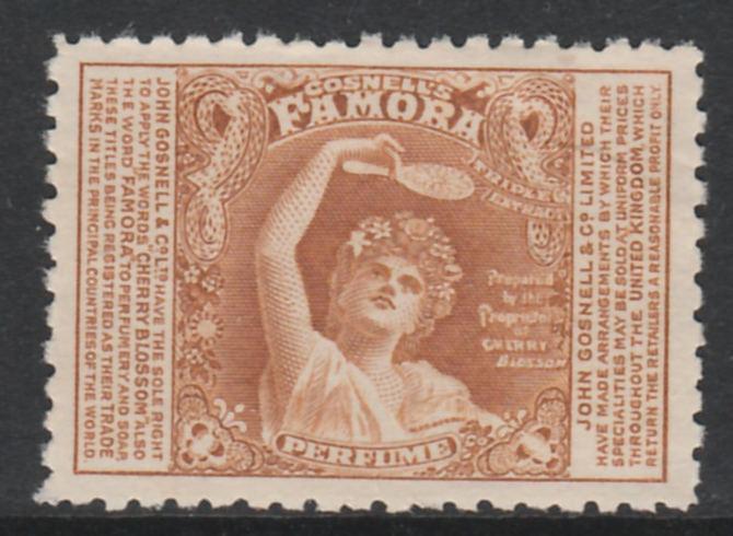 Cinderella - Great Britain 1910c perf publicity label in