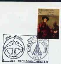 Postmark - great britain 1973 cover bearing illustrated
