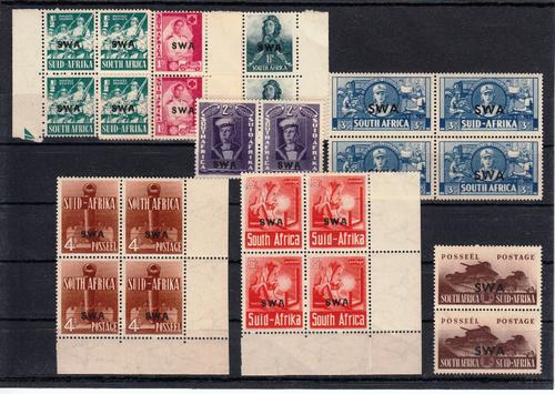 Swa 1941/2 large format stamps of south africa overprinted