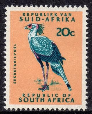 South africa - 1969-1972 definitive 20c swiss paper mnh sacc