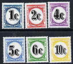 South west africa 1961 postage dues complete set of 6