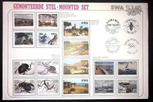 South West Africa 1987 Mounted Set Folder