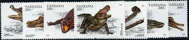 Tanzania 1996 Crocodiles complete unmounted mint set of 7