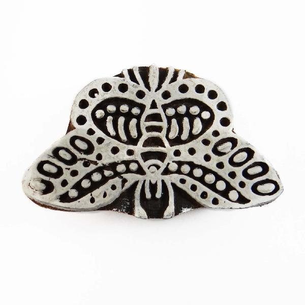 Printing block wooden hand carved butterfly stamp block