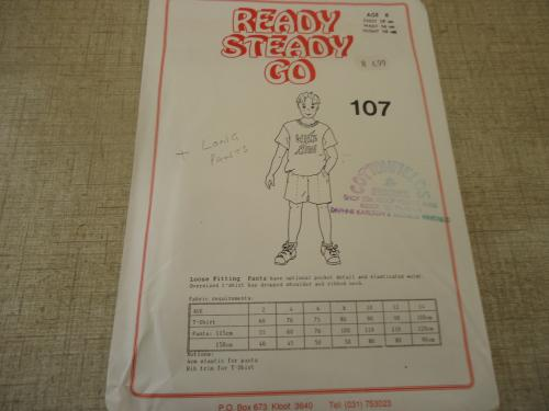 Ready-steady-go pattern-number 107 loose fitting pants size