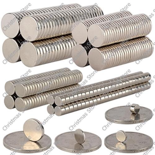 Rare earth magnets circular 15mm (x10)
