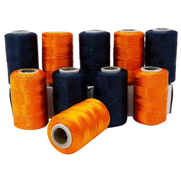 Set of 10 spools embroidery polyester machine stitching