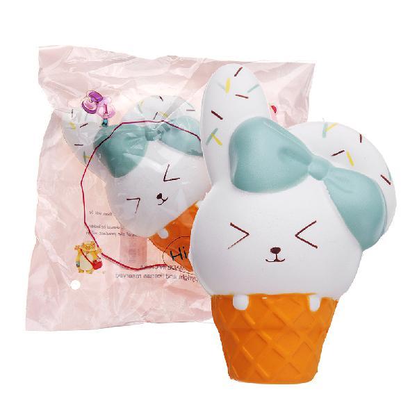 Ice cream rabbit squishy animal slow rising soft toy with