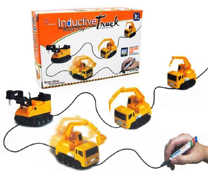 Magic car follow line moving pen pull lines construction