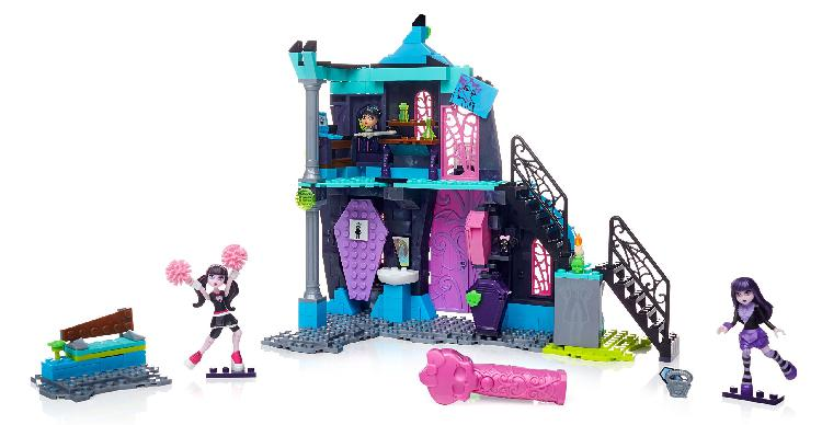 Mega bloks monster high school fang out school play set