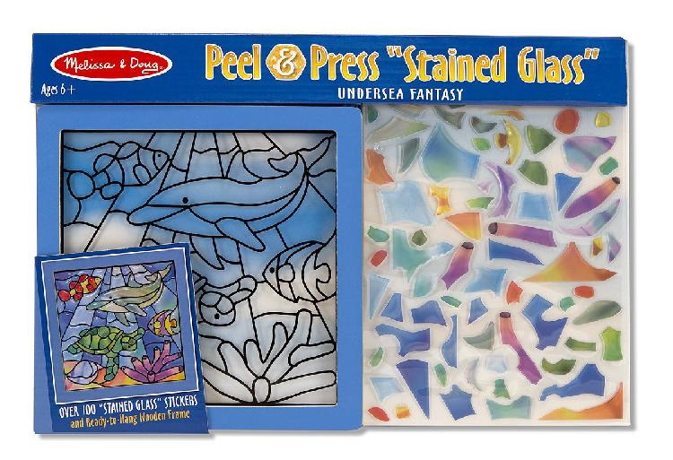 Melissa & doug peel and press stained glass sticker set: