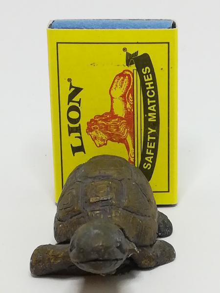 Miniature Brown Clay/Moulded Resin Tortoise