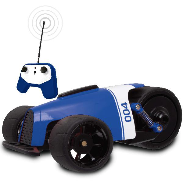 Sharper image rc car blue phantom racer trike, remote