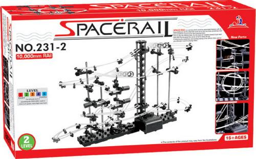 Space rail set level 2 marble roller coaster (spacerail)